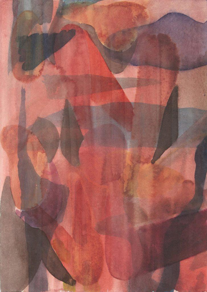 Max Santo, o.T., 27 x 19 cm, Aquarell auf Papier, 2018