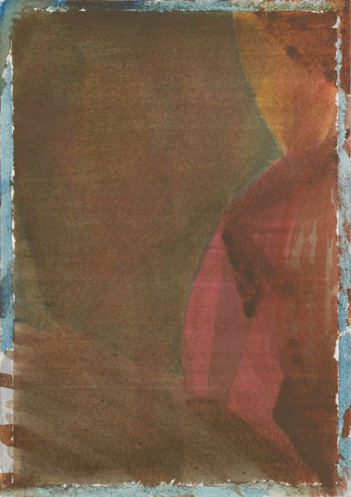 Max Santo, o.T., 24 x 17 cm, Aquarell auf Papier, 2018