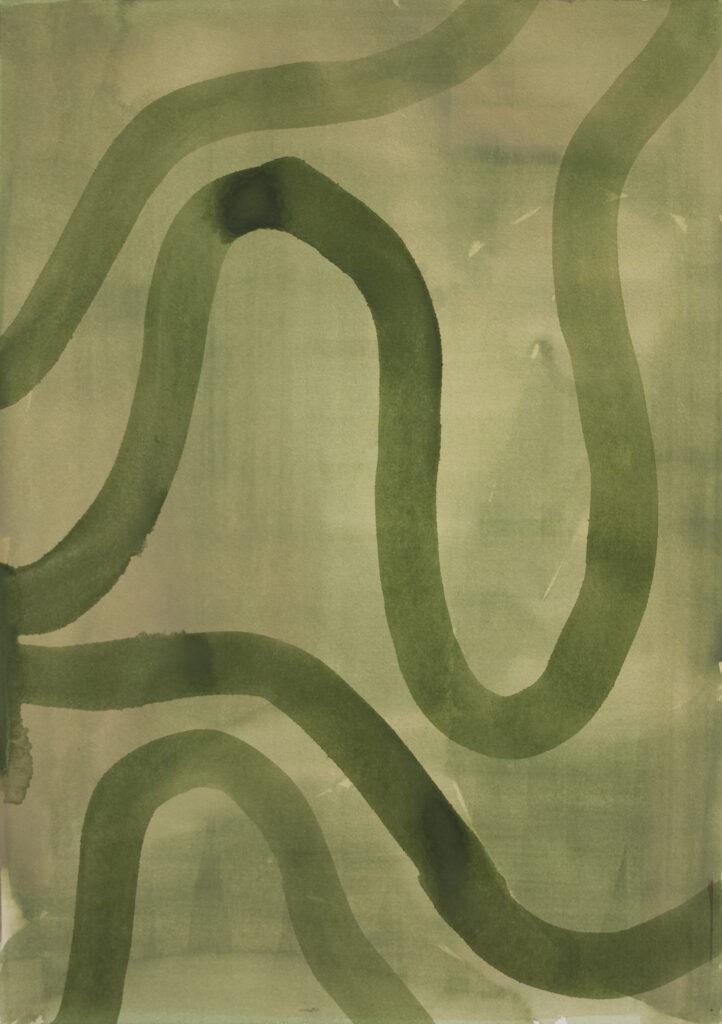 Max Santo, o.T., Aquarell auf Papier, 51x36 cm, 2019