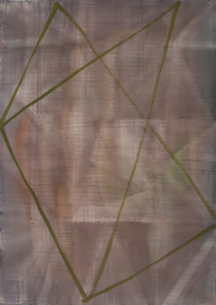 Max Santo, Wendung, Aquarell auf Papier, 51x36 cm, 2019